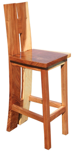 Suar Rio Negro Live Edge Barstool - La Place USA Furniture Outlet