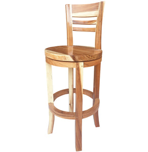 Suar Olympia Live Edge Bar Stool Chair with Swivel Seat - La Place USA Furniture Outlet