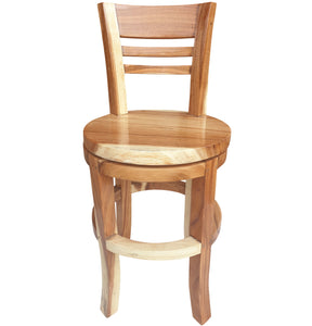Suar Olympia Live Edge Counter Stool Chair with Swivel Seat - La Place USA Furniture Outlet