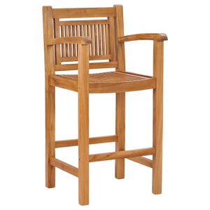 Teak Wood Maldives Barstool With Arms