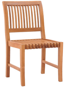 Teak Wood Castle Side Chair - La Place USA Furniture Outlet