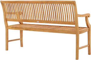 Teak Wood Castle Bench with Arms, 5 ft - La Place USA Furniture Outlet