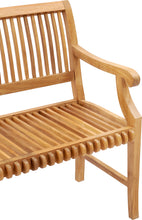 Teak Wood Castle Bench with Arms, 6 ft - La Place USA Furniture Outlet