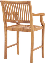 Teak Wood Castle Counter Stool with Arms - La Place USA Furniture Outlet