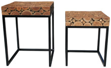 Teak Nesting Side Tables - Set of 2 - La Place USA Furniture Outlet