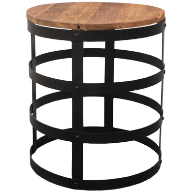Teak Wood Nutella Side Table - La Place USA Furniture Outlet