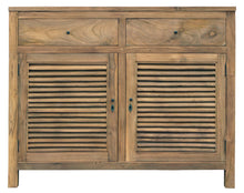 Recycled Teak Louvre Cabinet 2 Doors 2 Drawers-Chic Teak