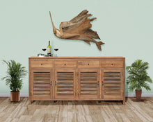 Recycled Teak Louvre Cabinet 4 Doors 4 Drawers