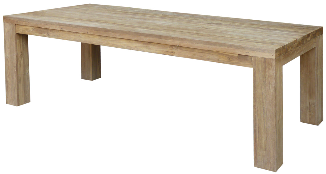 Recycled Teak Wood Marbella Dining Table, 87 Inch - La Place USA Furniture Outlet