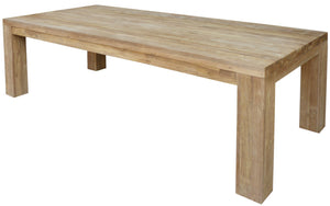 Recycled Teak Wood Marbella Dining Table, 102 Inch - La Place USA Furniture Outlet