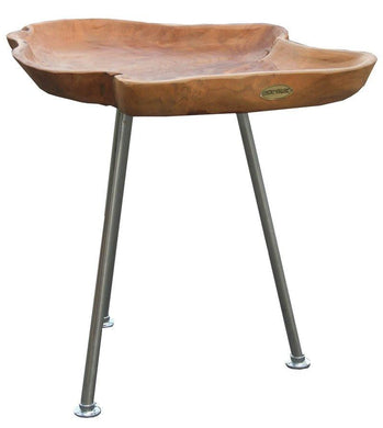 Teak Tray Side Table - La Place USA Furniture Outlet