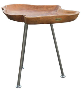 Teak Wood Tray Side Table - La Place USA Furniture Outlet