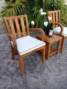 Teak Wood Boston Arm Chair - La Place USA Furniture Outlet