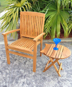 Teak Wood Belize Stacking Arm Chair - La Place USA Furniture Outlet