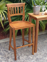 Teak Wood Amsterdam Barstool - La Place USA Furniture Outlet