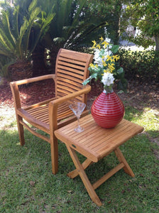 Teak Rio Stacking Chair - La Place USA Furniture Outlet