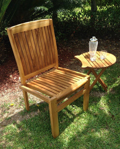 Teak Wood Belize Stacking Side Chair - La Place USA Furniture Outlet