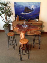 Teak Round Bar Stool-Chic Teak