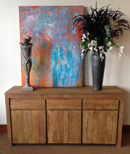 Recycled Teak Solo Buffet 3 Doors 3 Drawers