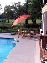 Sun Garden 13 Ft. Easy Sun Cantilever Umbrella and Parasol, the Original from Germany, Cayenne Canopy with Bronze Frame