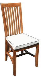 11 Piece Rectangular Teak Wood Balero Table/Chair Set With Cushions - La Place USA Furniture Outlet