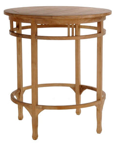 Large Teak Wood Orleans Bar Table, 38 Inch Round - La Place USA Furniture Outlet