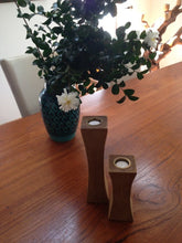 Slim Recycled Teak Candleholder, set of 2 - La Place USA Furniture Outlet