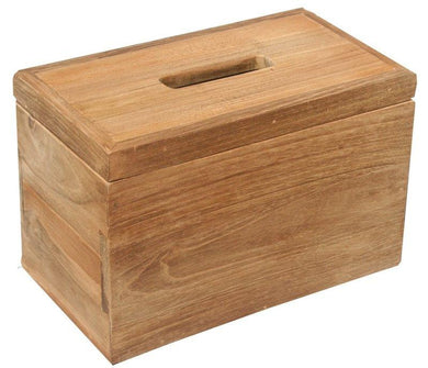 Rectangular Recycled Teak Wood tissue holder - La Place USA Furniture Outlet