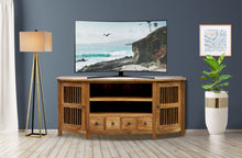 Waxed Teak Wood Belize Buffet / Entertainment Center - La Place USA Furniture Outlet