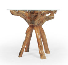 Teak Wood Root Bar Table Including 36 Inch Glass Top - La Place USA Furniture Outlet