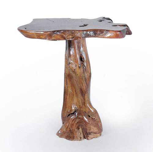 Teak Wood Slab Bar Table - La Place USA Furniture Outlet