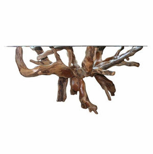 Teak Root Dining Table For 63 Inch Glass Top - La Place USA Furniture Outlet