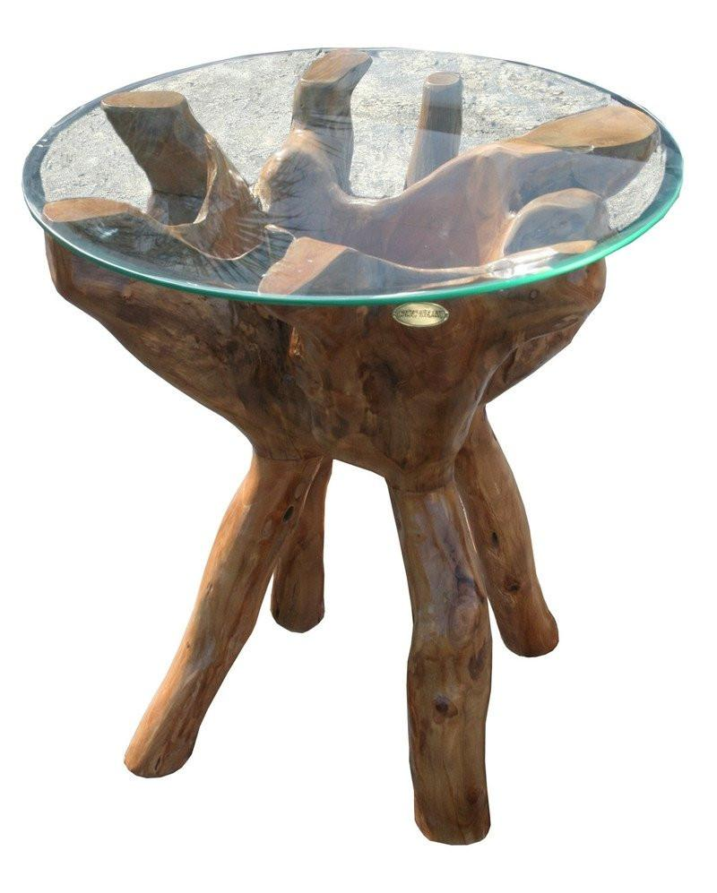 Teak Wood Root Side Table - La Place USA Furniture Outlet
