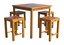 Teak Wood Santa Monica Counter Stool, 24 inch - La Place USA Furniture Outlet
