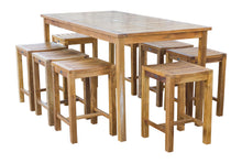 "Teak Wood Antigua Rectangular Bistro Table, Counter Height (55"", 63"" and 71"" sizes) - La Place USA Furniture Outlet"