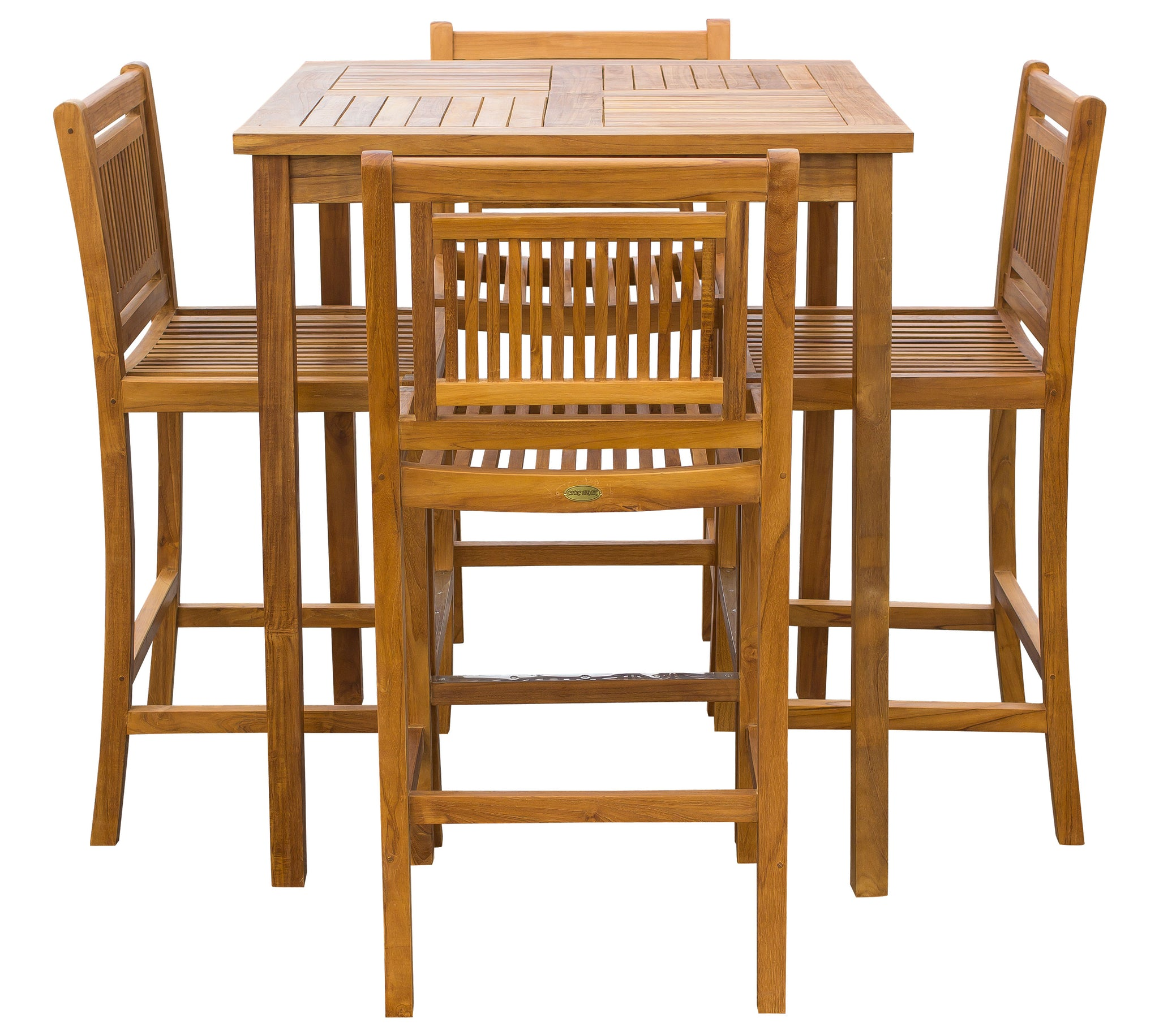 Astonishing 5 Piece Teak Wood Maldives Patio Bistro Bar Set With 35 Theyellowbook Wood Chair Design Ideas Theyellowbookinfo