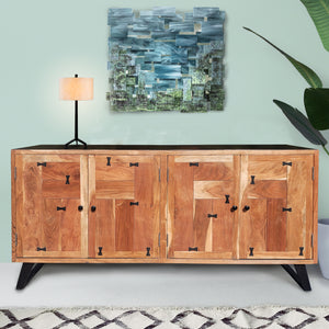 Everglades Acacia Wood Side Board