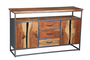Oceanside Acacia Wood Buffet/Media Center - La Place USA Furniture Outlet