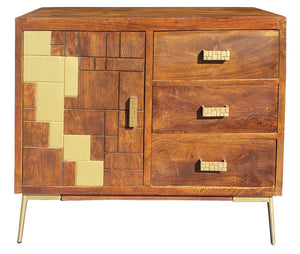 Montevideo Mango Wood Cabinet - La Place USA Furniture Outlet