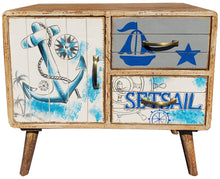 Seaside Mango Wood Chest With 2 Drawers, 1 Door - La Place USA Furniture Outlet