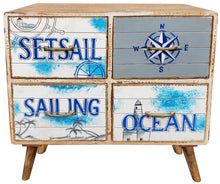 Seaside Mango Wood Chest with 4 Drawers - La Place USA Furniture Outlet