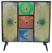 Madagascar Mango Wood Cabinet with 3 Drawers and 2 Doors - La Place USA Furniture Outlet