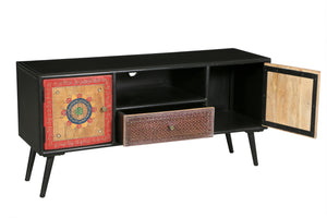 Madagascar Mango Wood Media Center - La Place USA Furniture Outlet
