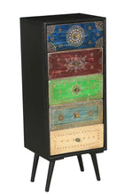 Madagascar Mango Wood Vertical Chest with 5 Drawers - La Place USA Furniture Outlet
