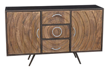 Toltec Mango Wood and Metal Buffet with 3 Drawers and 2 Doors