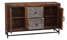 Balam Mango Wood Sideboard with 2 Doors and 2 Drawers