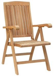 Teak Miami Reclining Chair - La Place USA Furniture Outlet