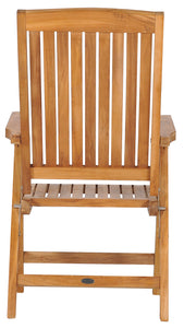 Teak Wood Miami Reclining Chair - La Place USA Furniture Outlet