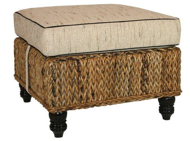 Naples Woven Ottoman with Cushion - La Place USA Furniture Outlet