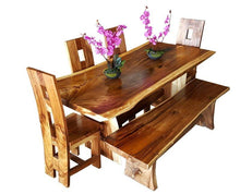 "Suar Live Edge Slab Dining Table - 79"" Long (choice of table tops) - La Place USA Furniture Outlet"